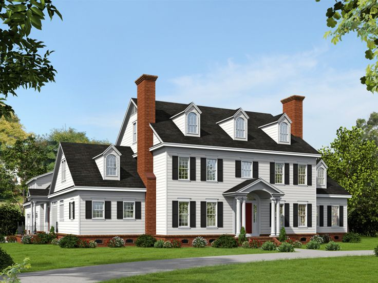 Colonial House Plans Premier Luxury Colonial Home Plan