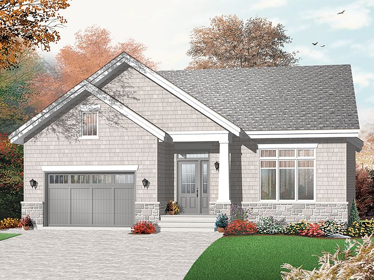 Narrow Lot Home Plan, 027H-0257