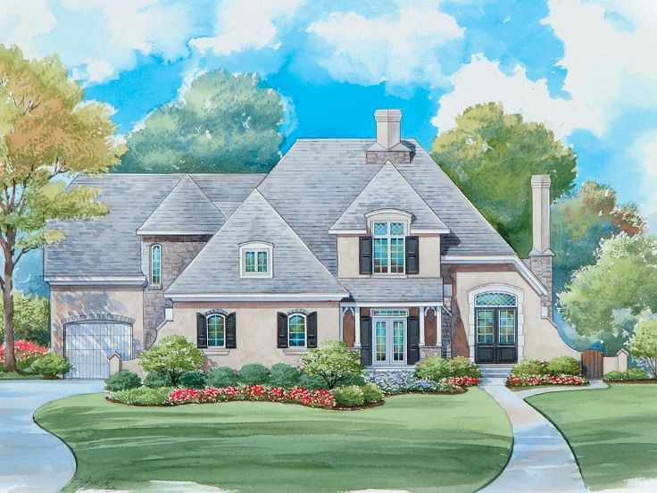 Luxury House Plans European Style Luxury Home Plan