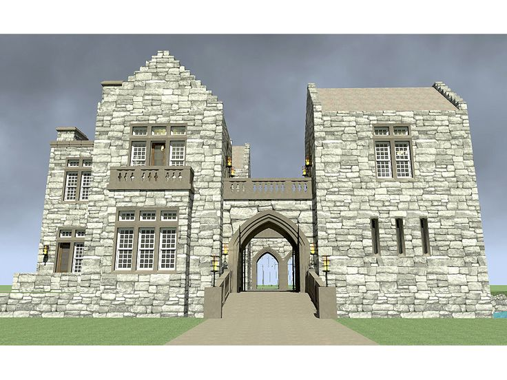 Castle Home Plan, 052H-0028