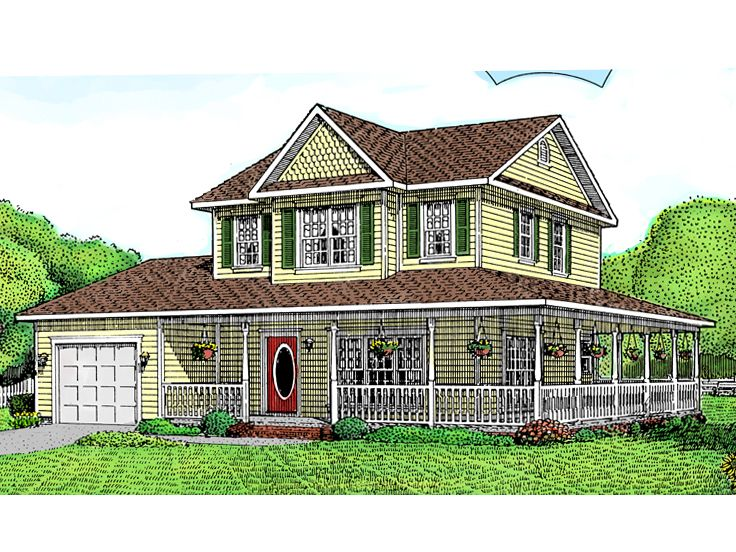 Country Victorian House, 044H-0003