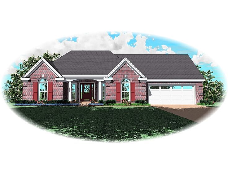 Ranch House Plan, 006H-0082