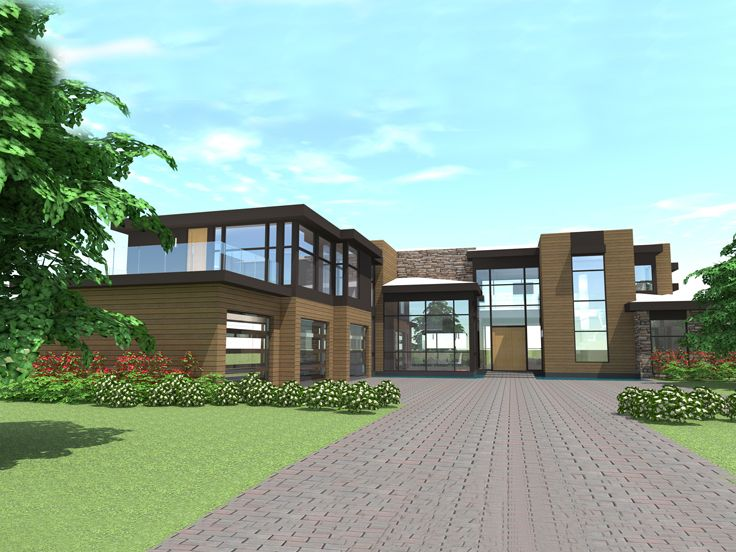 Contemporary House Plan, 052H-0083