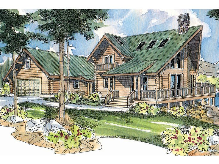 Log Home Plan, 051L-0008