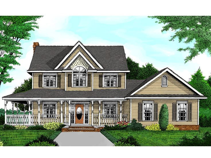 Country Farmhouse Plan, 044H-0011