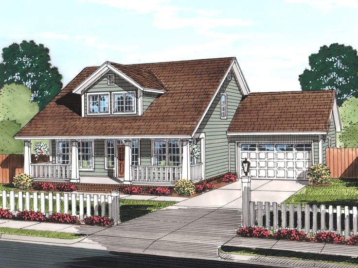 Craftsman House Plan, 059H-0183