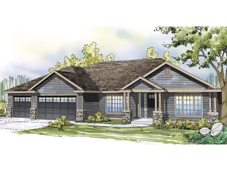 Ranch House Plan, 051H-0209