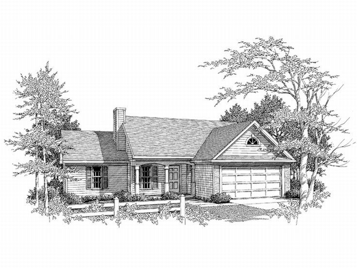 One-Story House Plan, 019H-0131