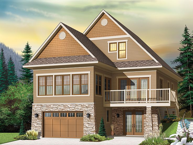 Craftsman House Plan, 027H-0358