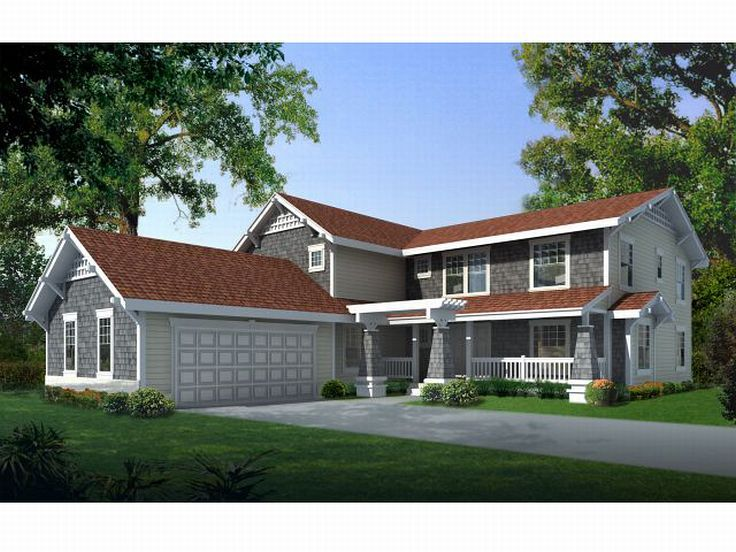 Craftsman House Plan, 026H-0071