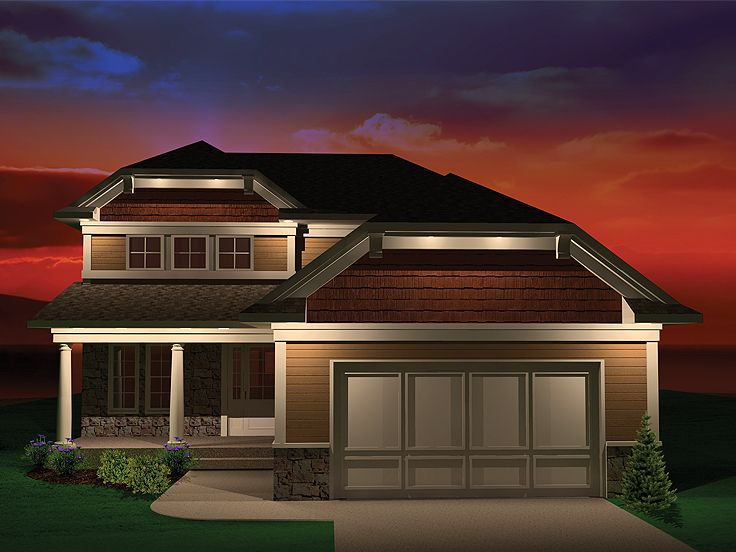 Bungalow House Plan, 020H-0251