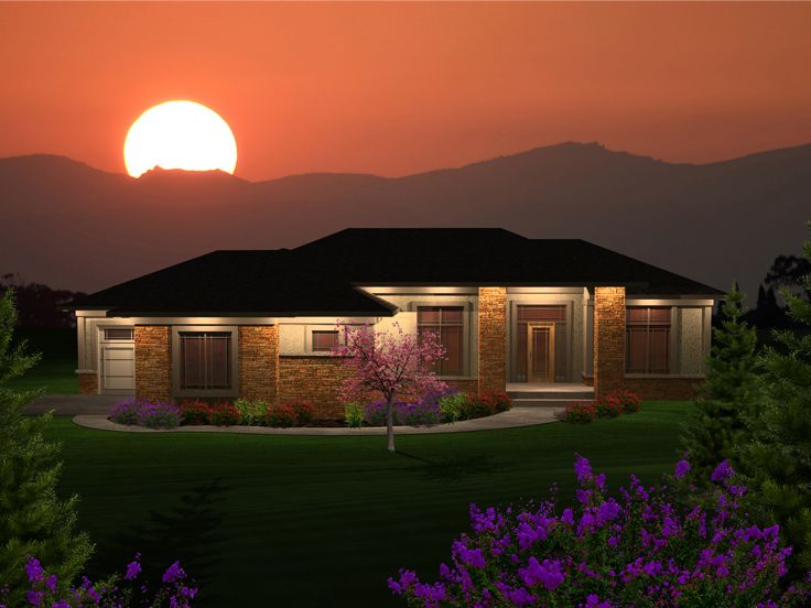 Ranch Home Design, 020H-0317