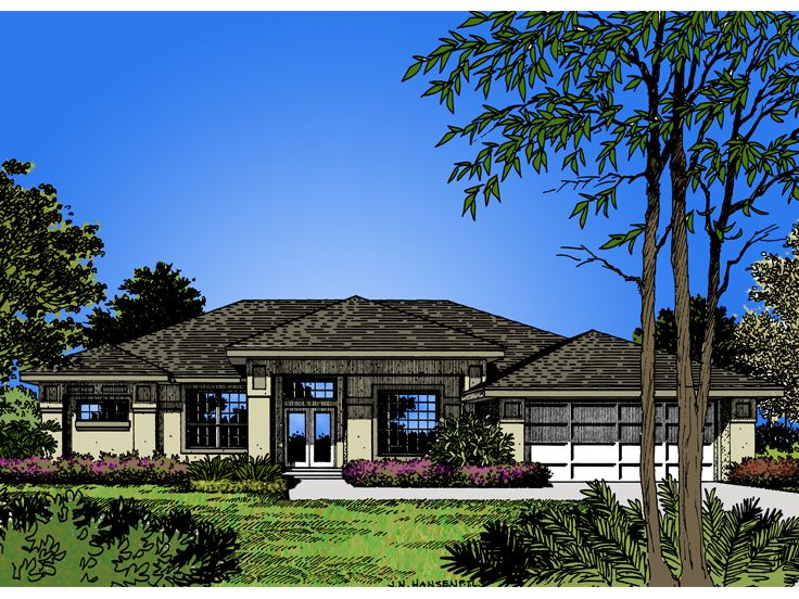 Contemporary House Plan, 043H-0056