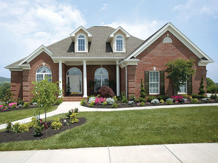 Plan 036h 0058 find unique house plans home plans and for Brick traditional homes