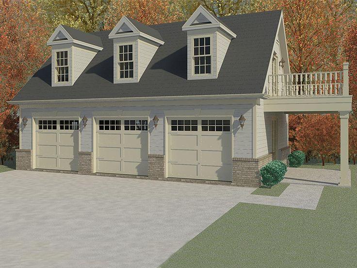 Garage Apartment Plans | 3-Car Garage Apartment Plan with ...