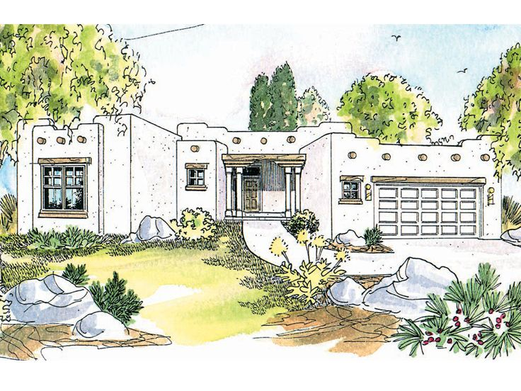 Southwestern House Plan, 051H-0055