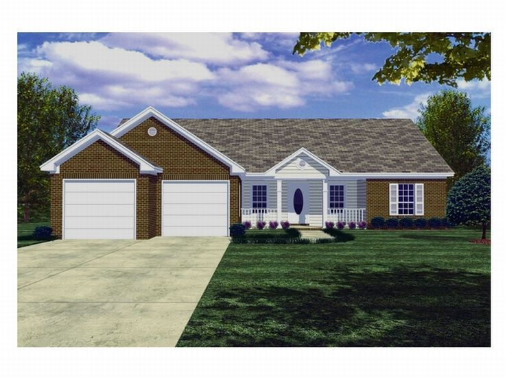 Ranch House Plan, 001H-0017