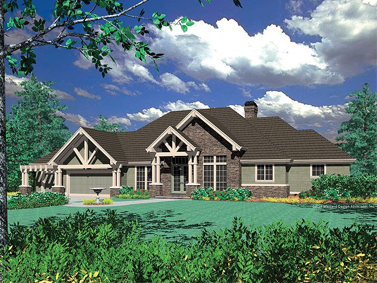 Front ViewStucco Home Plan Photo, 034H-0079