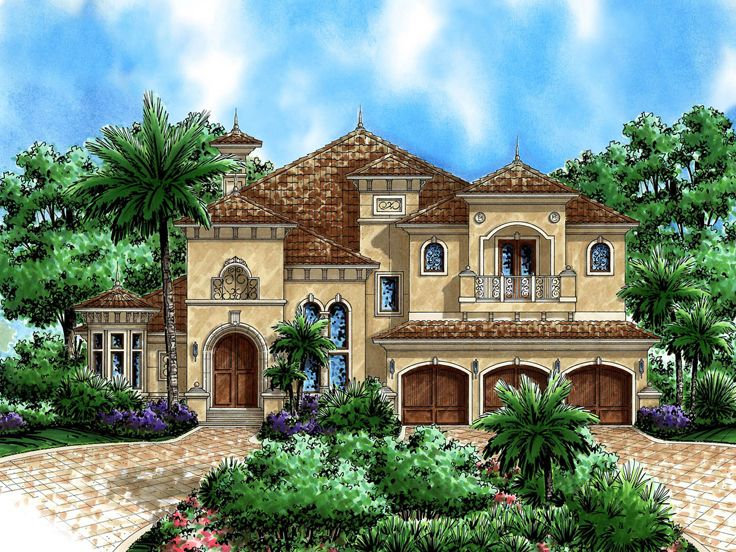 Mediterranean Home Plan, 037H-0039