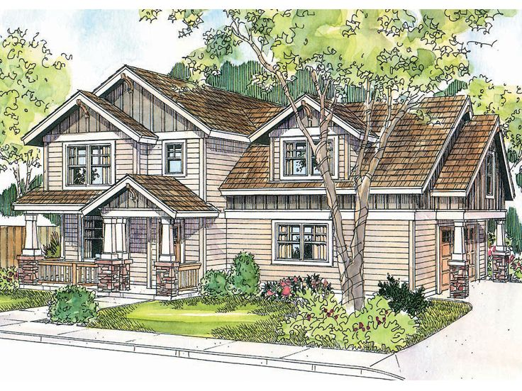 Craftsman Home Plan, 051H-0146