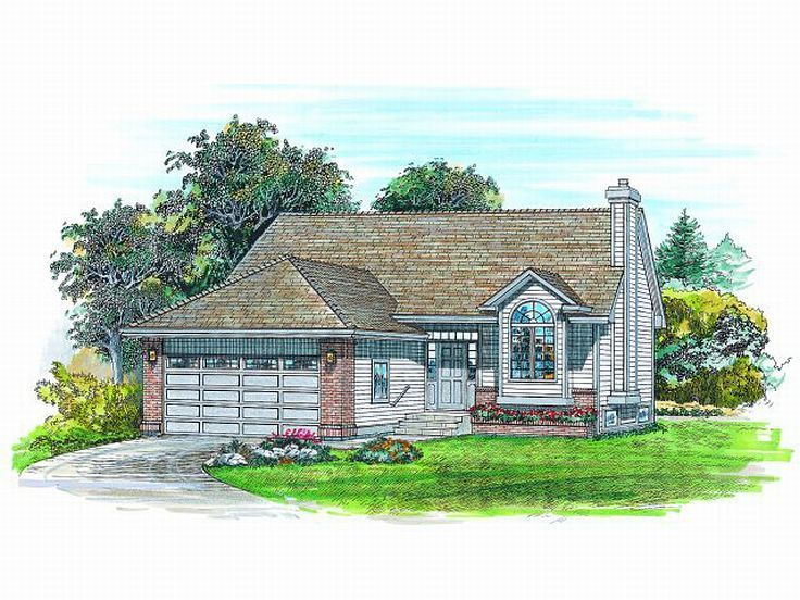 Narrow Lot House Plan, 032H-0032
