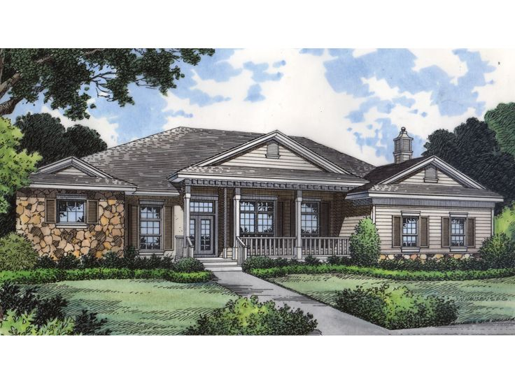 Ranch Home Plan, 043H-0138