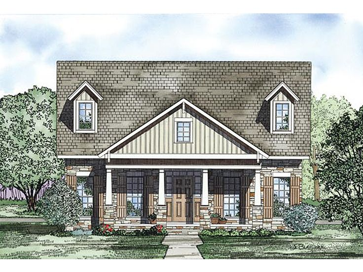 Bungalow House Plan, 025H-0239