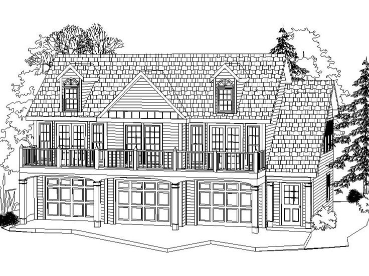 Carriage House Plans 3 Car Carriage House Plan 053g