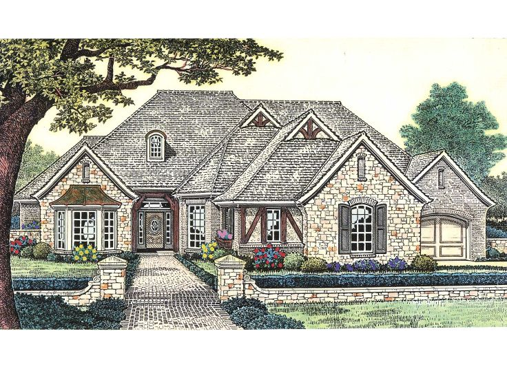 European House Plan, 002H-0088