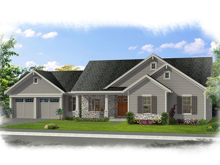 Craftsman House Plan, 046H-0111