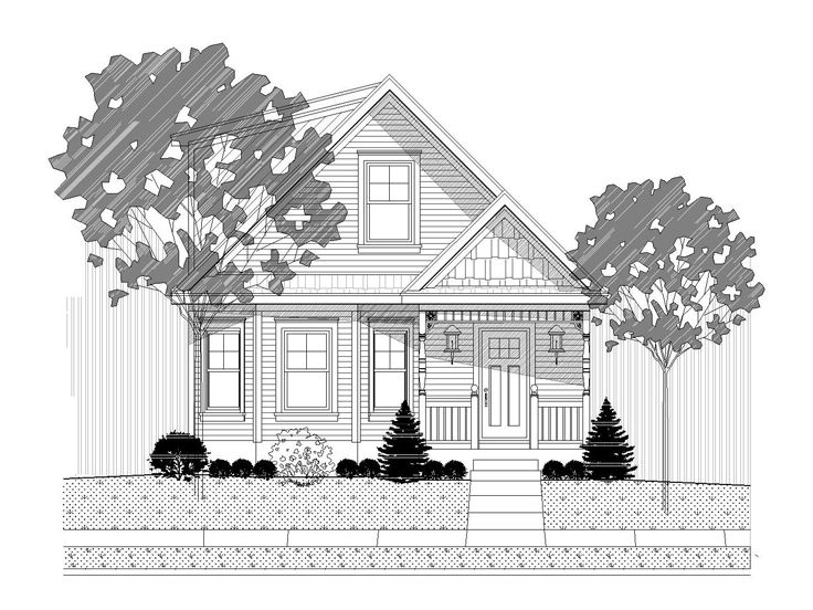 Narrow Home Design, 062H-0035