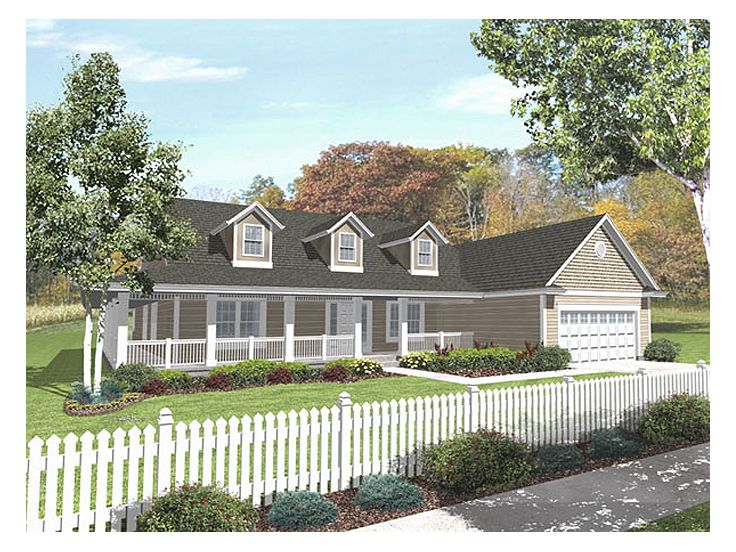Ranch Home Plan, 016H-0060