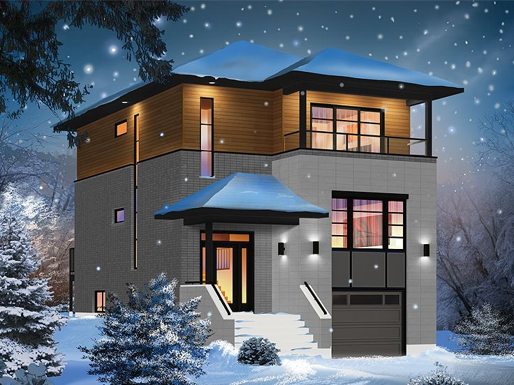 Three bedroom two bathroom house plans three story house for Modern house plans 3 story