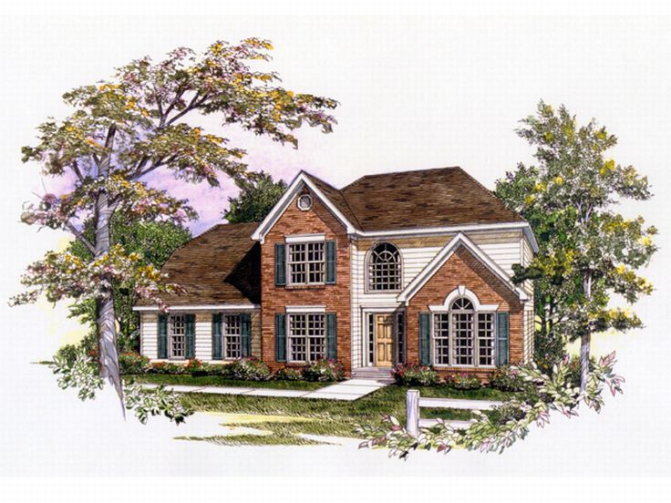 2-Story Home Plan, 019H-0085