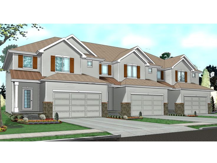 Townhouse Plan, 050M-0008