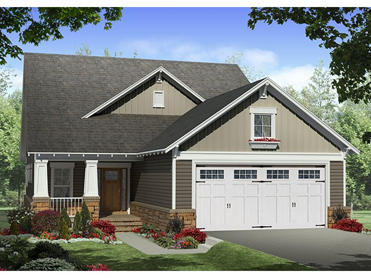 Narrow Lot Home Plan, 001H-0183
