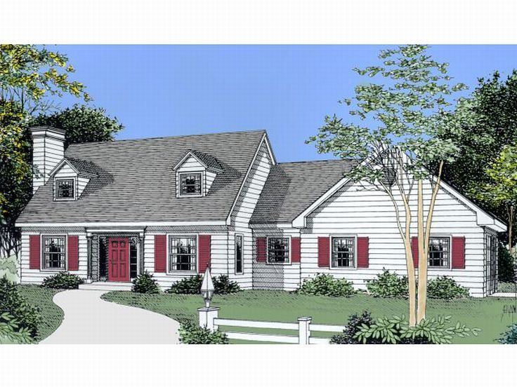 Cape Cod Home Plan, 026H-0088