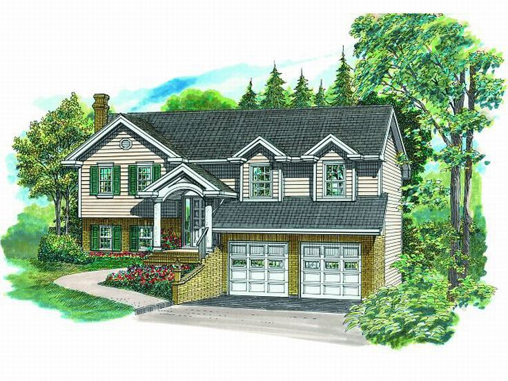 Split-Level House Plan, 032H-0069