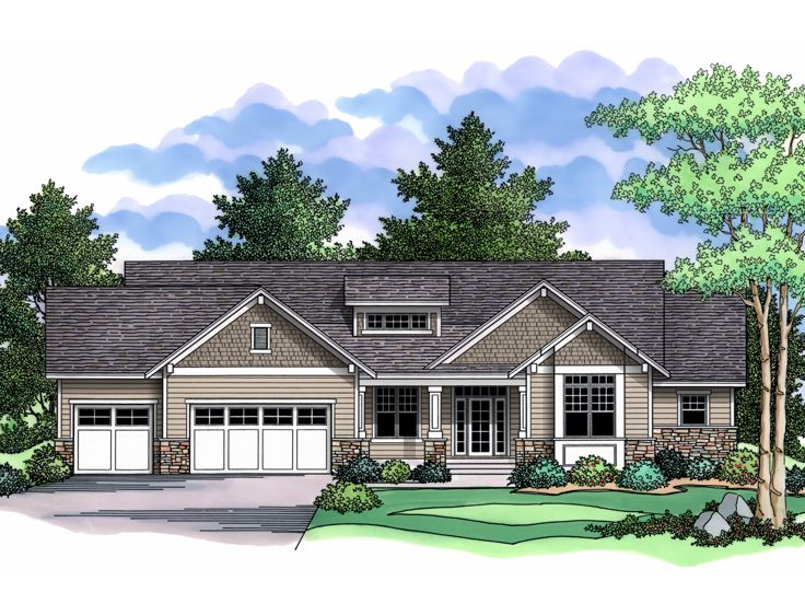 Luxury Ranch House Plan, 023H-0165