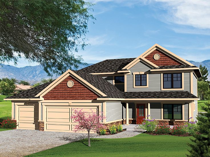 Two-Story House Plan, 020H-0259