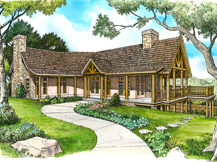 Waterfront home plans waterfront house plan design 008h for Waterfront home plans