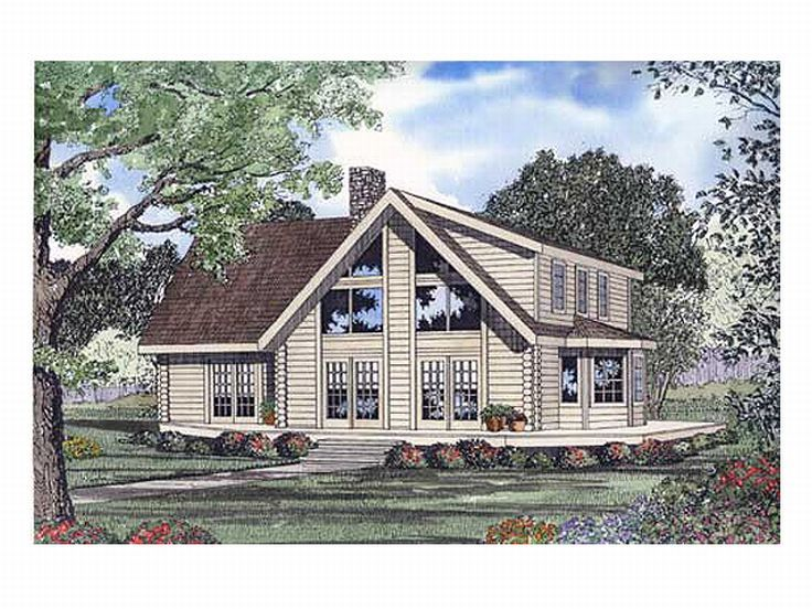 Log Home Plan, 025L-0009