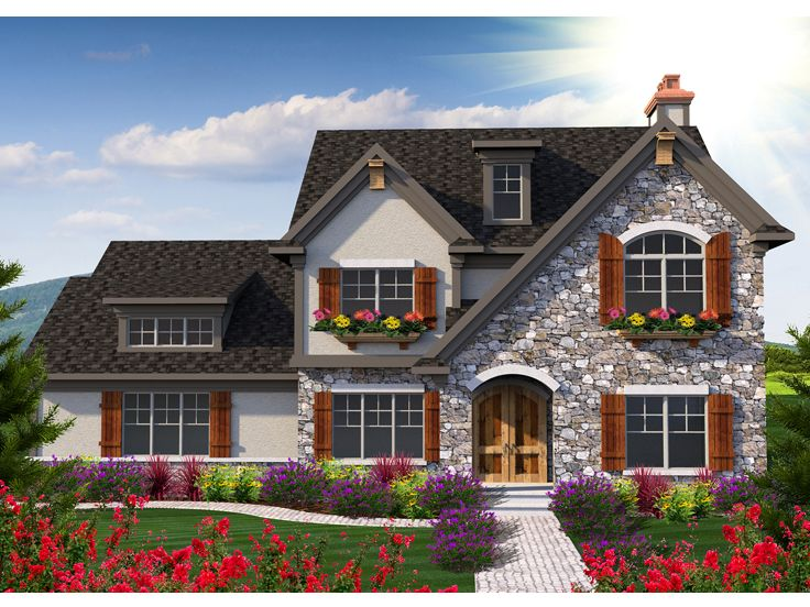 European House Plan, 020H-0355