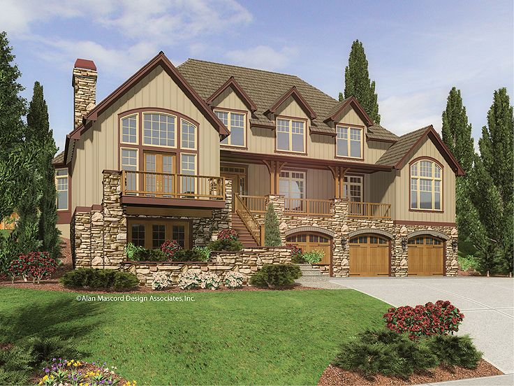 Craftsman Mountain Home, 034H-0145