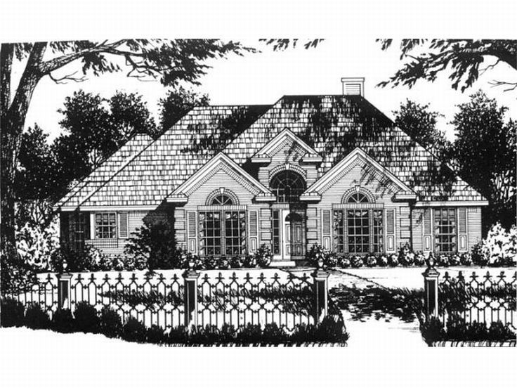 Ranch House Plan, 015H-0067