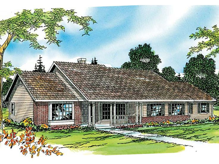 Ranch House Plan, 051H-0058