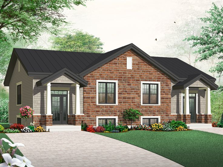 Duplex House Plan, 027M-0031