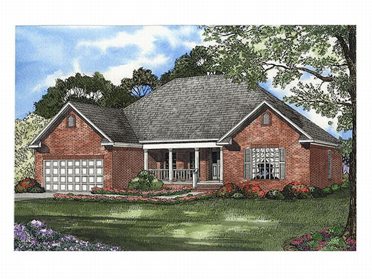 Ranch House Plan, 025H-0107