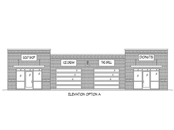 Strip Mall Plans Commercial Building Plans The House Plan Shop