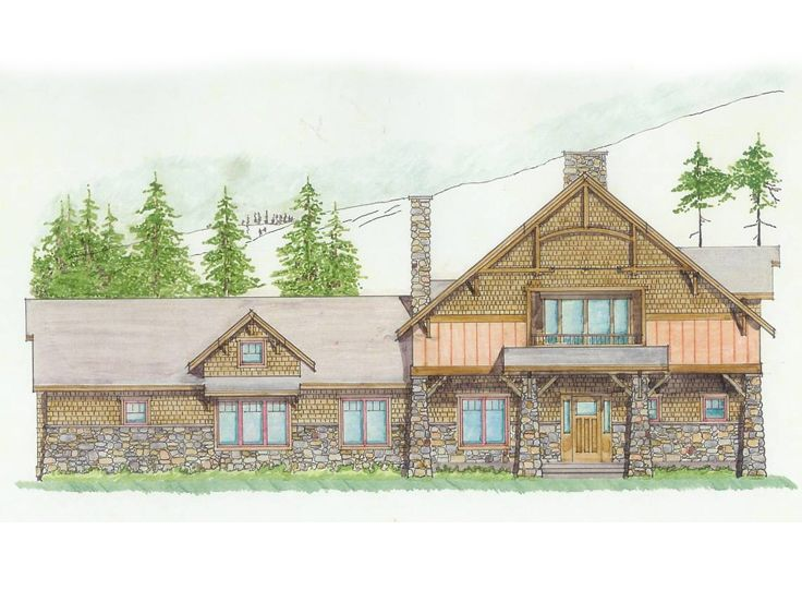 Craftsman House Plan, 038H-0004